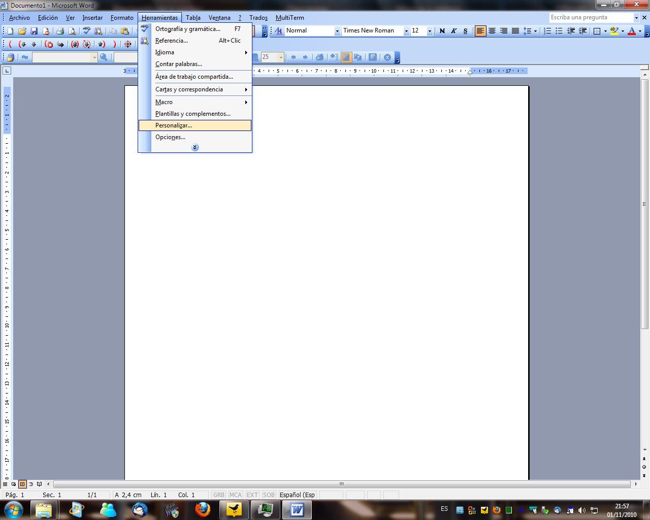 C mo cambiar los atajos de teclado de trados en word for En word cual es el interlineado