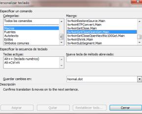 Macros de Trados en Word
