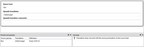 Ejemplo de falso error en QT Linguist