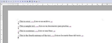 Archivo bilingüe original