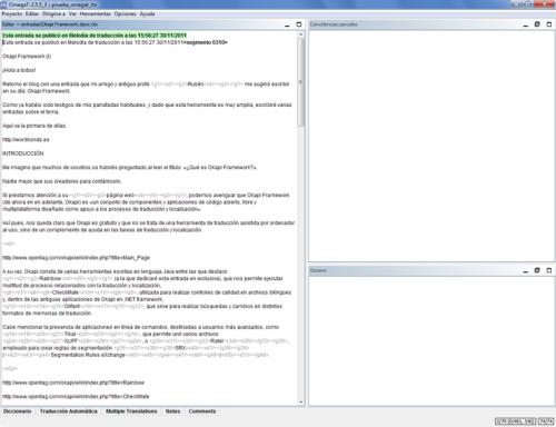 Documento TTX en OmegaT