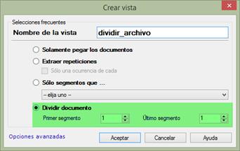 División de un archivo en varios partes según el número de segmentos